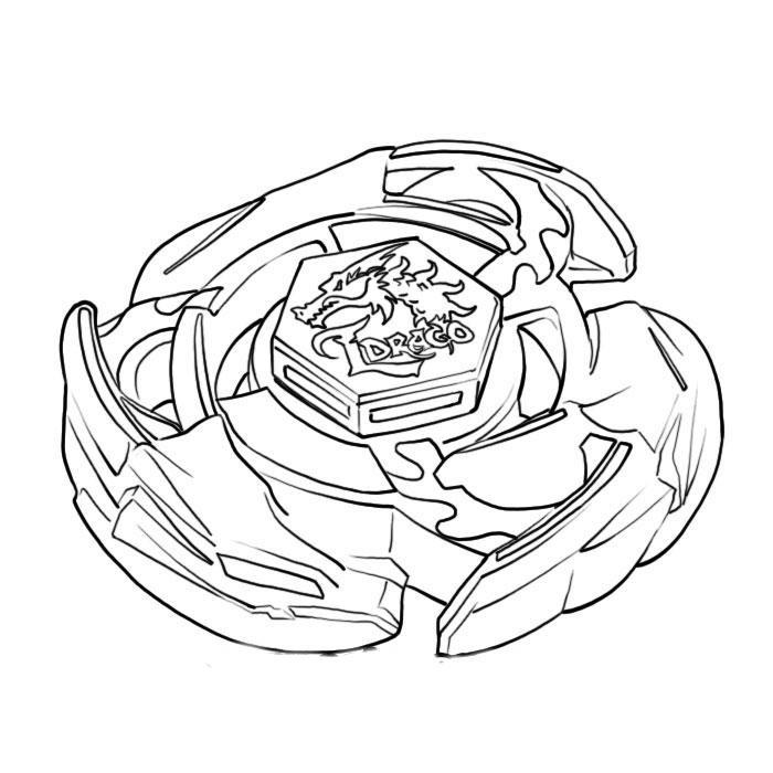 Coloriage beyblade toupie imprimer sur coloriages info - Dessin de toupie ...