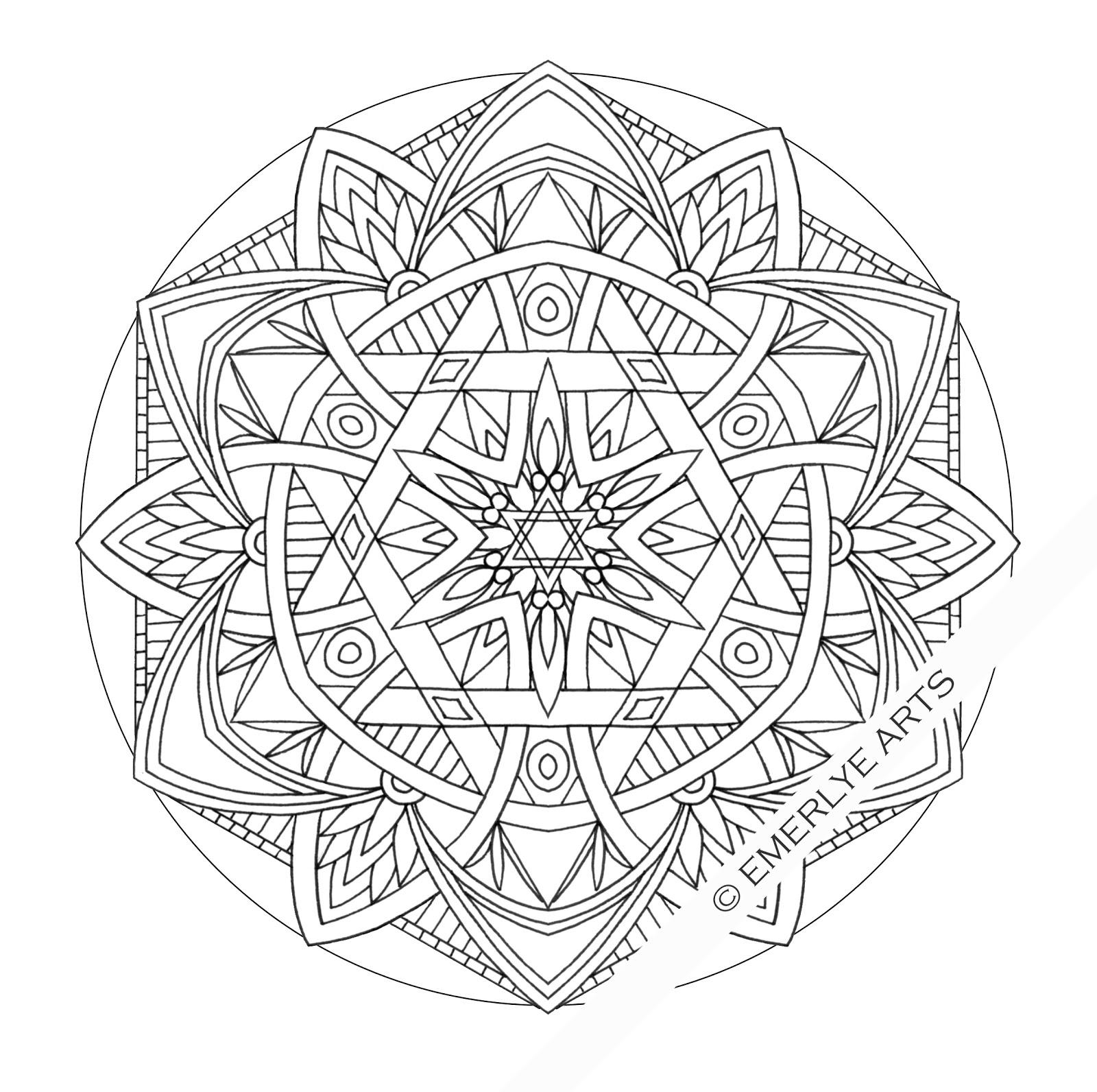 Coloriage Mandala Difficile A Imprimer Sur Coloriages Info