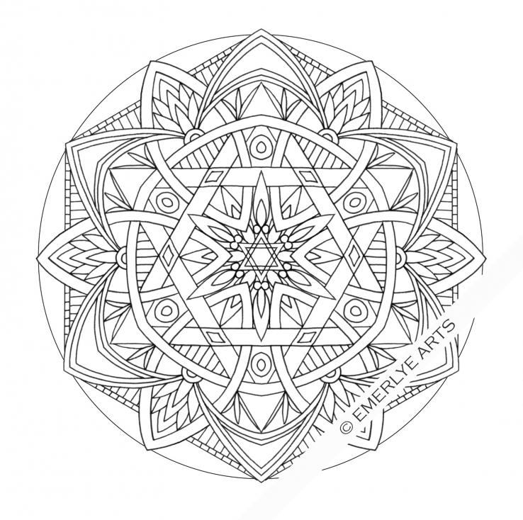 Coloriage Mandala difficile à imprimer