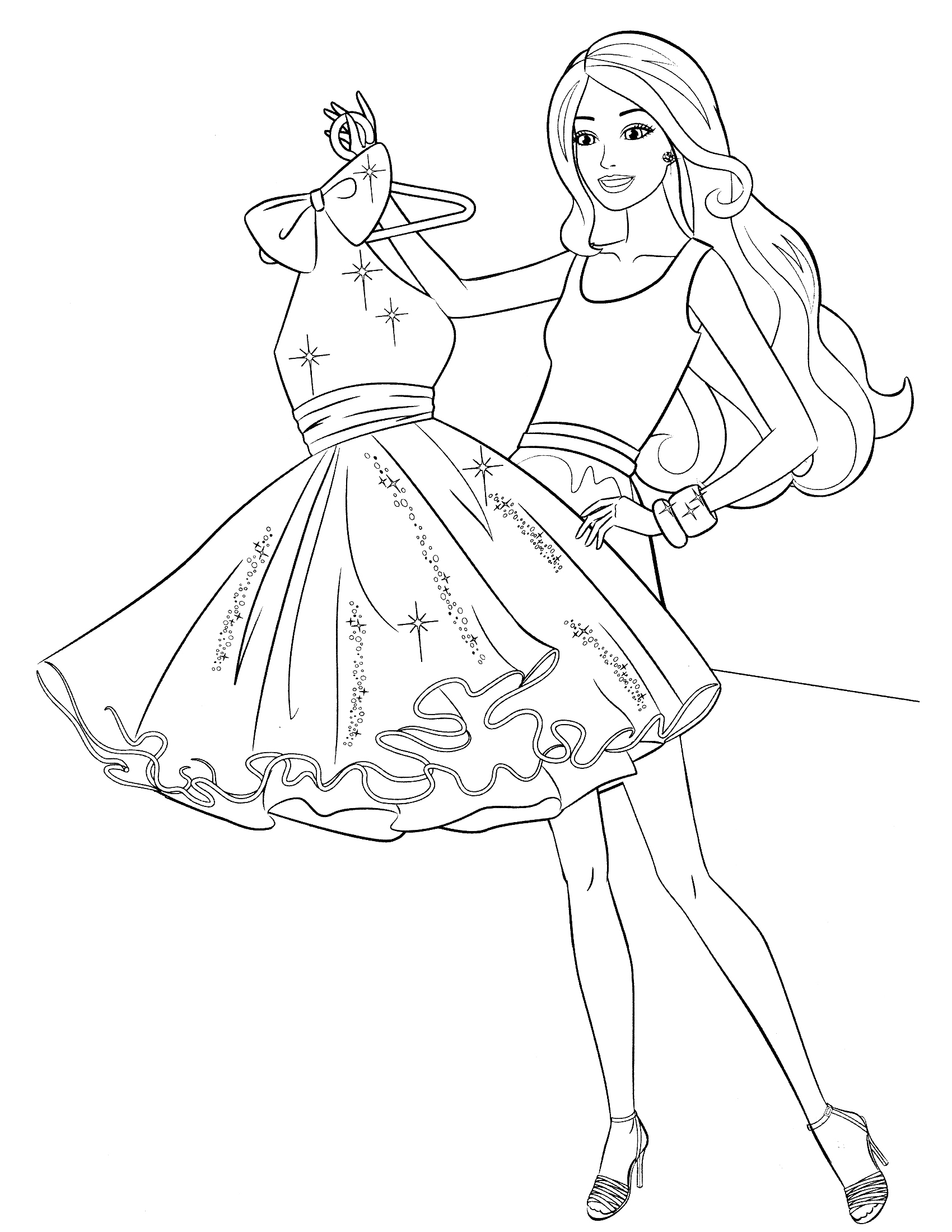 Coloriage barbie garde robe imprimer sur coloriages info - Image de barbie ...