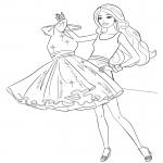 Coloriage Barbie garde robe