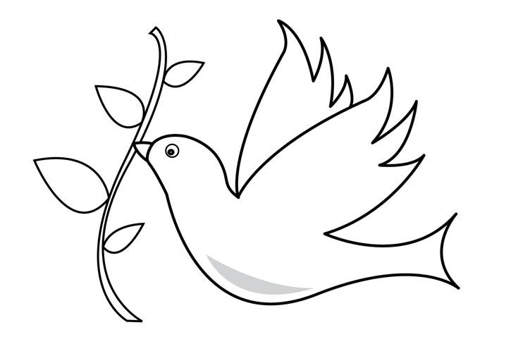 Coloriage colombe imprimer sur coloriages info - Colombe coloriage ...