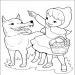 Coloriage Loup gentil
