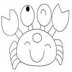 Crabe mignon dessin à colorier