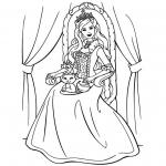 Coloriage Fille princesse