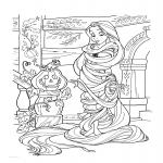 Raiponce Halloween dessin à colorier
