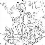 Bambi dessin à colorier