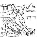 Bambi Disney dessin à colorier