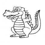 Coloriage Crocodile facile