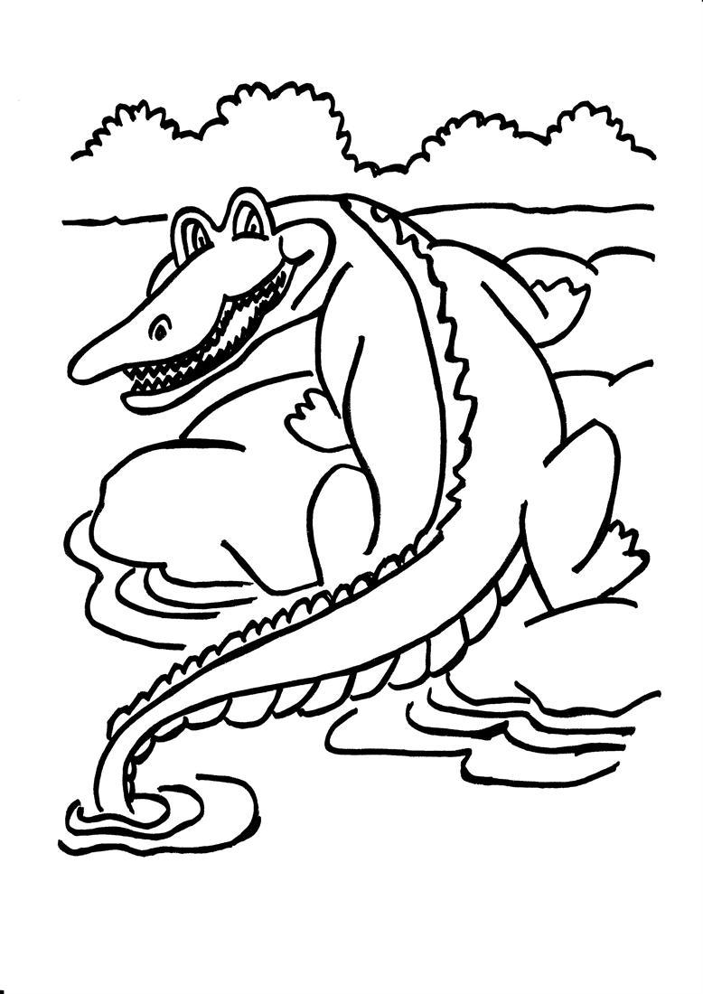 Coloriage Crocodile Mechant.Coloriage Crocodile Sort De L Eau A Imprimer Sur Coloriages Info