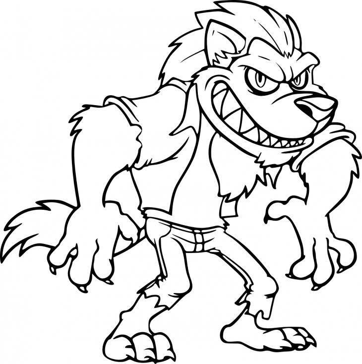 Coloriage Loup-Garou à imprimer sur COLORIAGES .info
