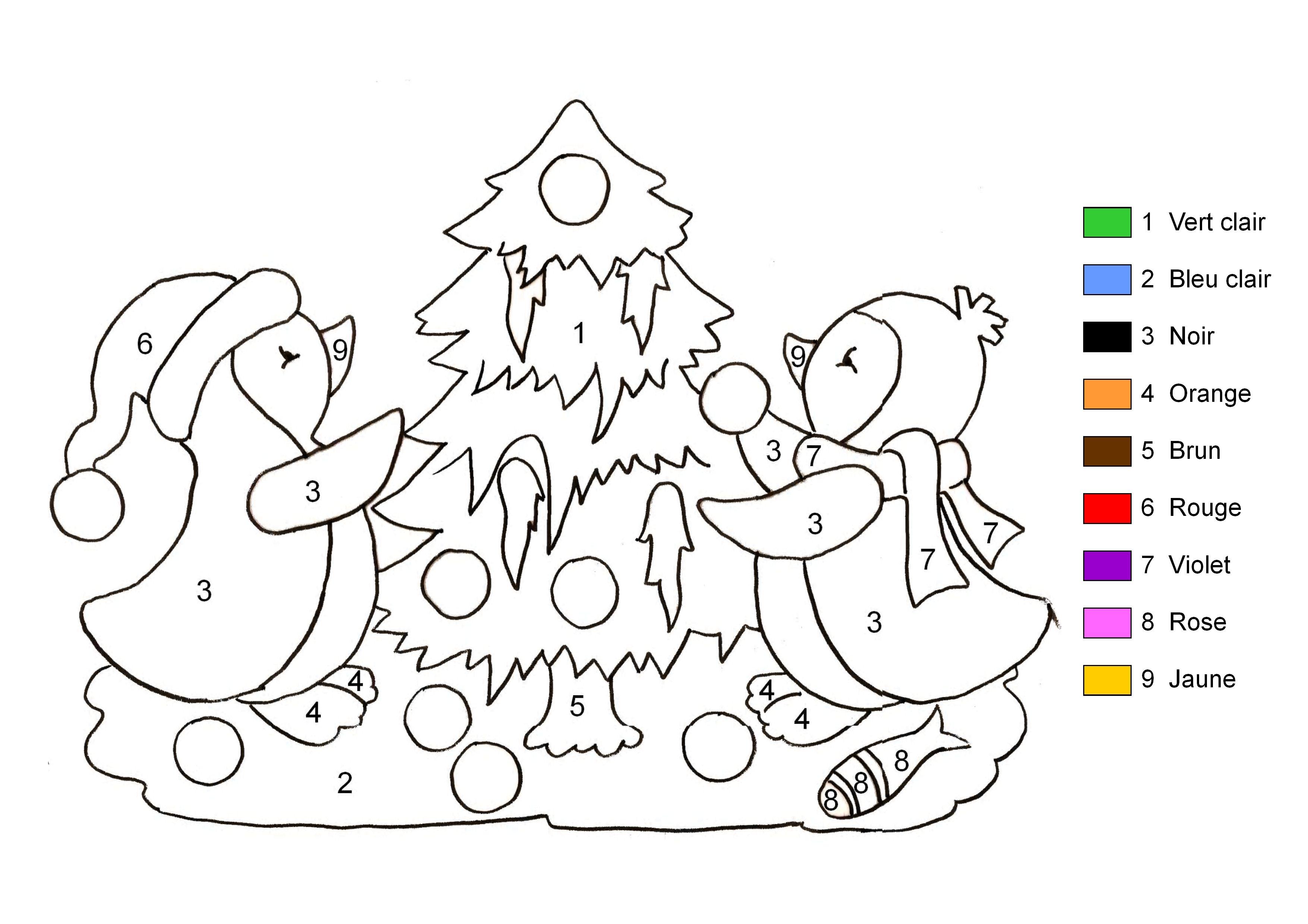 Coloriage magique no l imprimer sur coloriages info - Coloriage info ...