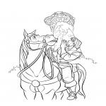 Maximus et Flynn Rider dessin à colorier