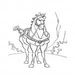 Maximus Raiponce dessin à colorier