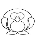 Coloriage Pingouin facile