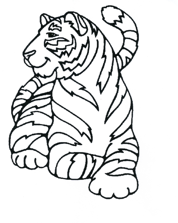 Coloriage tigre imprimer sur coloriages info - Dessin de sabre ...