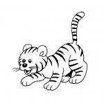 Coloriage Tigre mignon