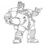Coloriage Astronaute de dessin animé