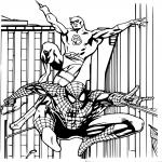 Daredevil et Spiderman dessin à colorier