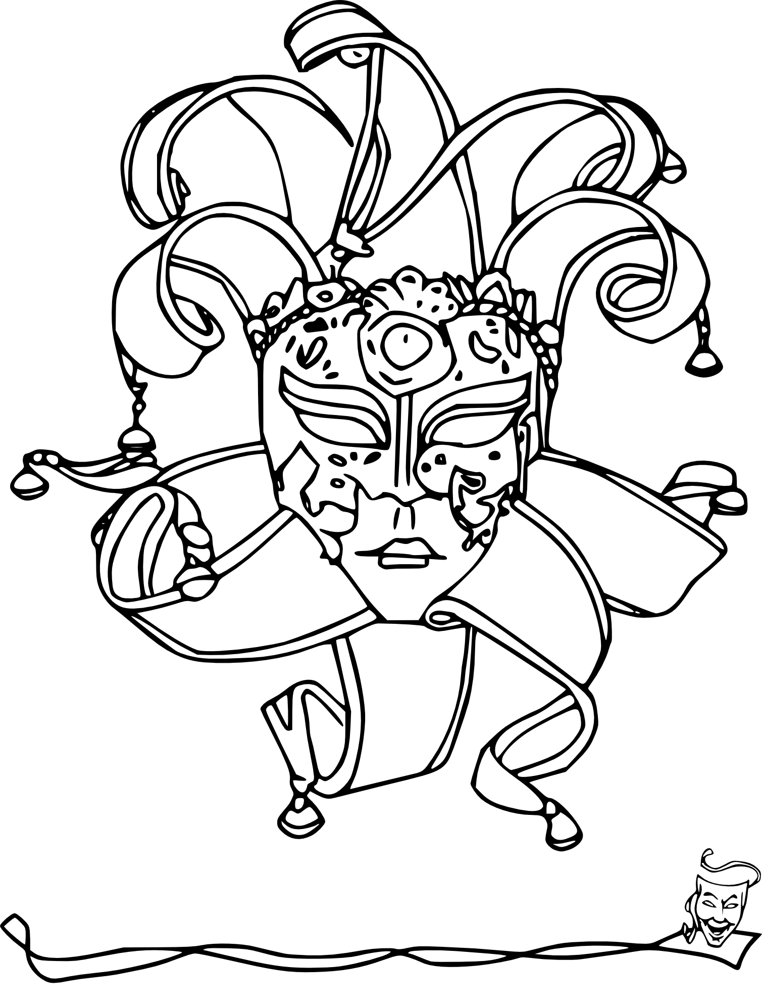 Coloriage masques carnaval - Coloriage masque ...