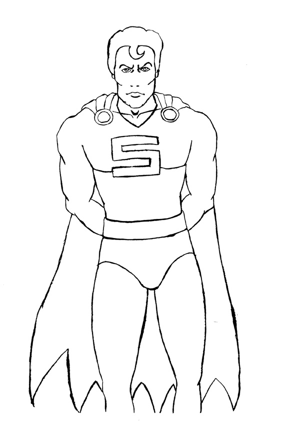 Coloriage superman super h ros imprimer sur coloriages info - Dessin super hero ...