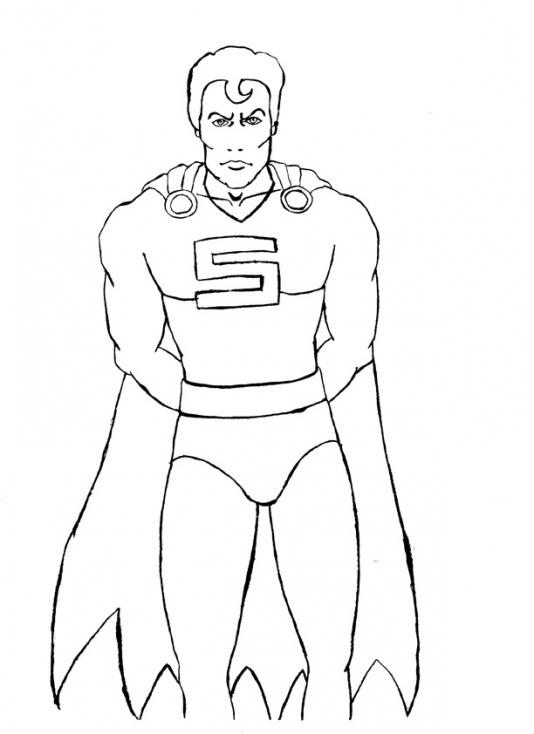 Coloriage Superman super-héros à imprimer