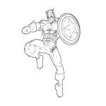 Captain America superhéro dessin à colorier