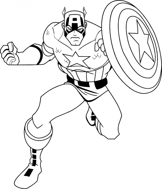 Coloriage Captain America marvel à imprimer