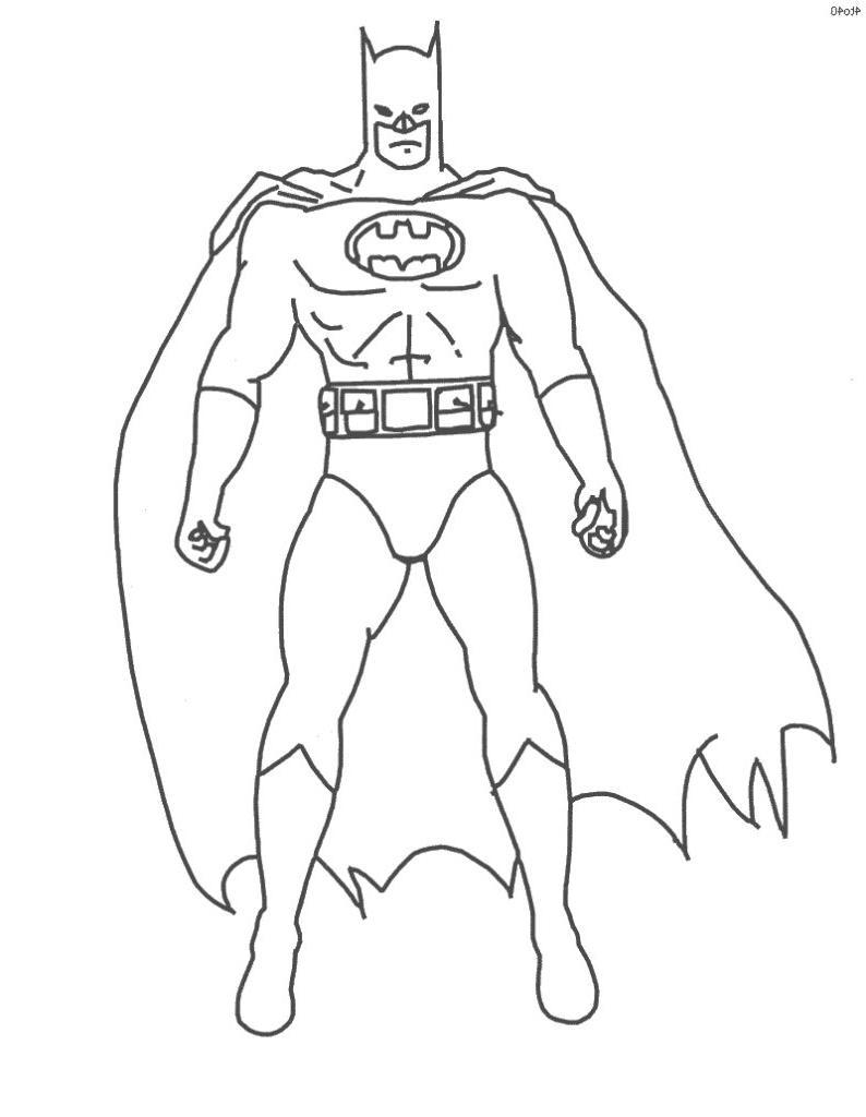 Coloriage Batman à Imprimer Sur Coloriages Info