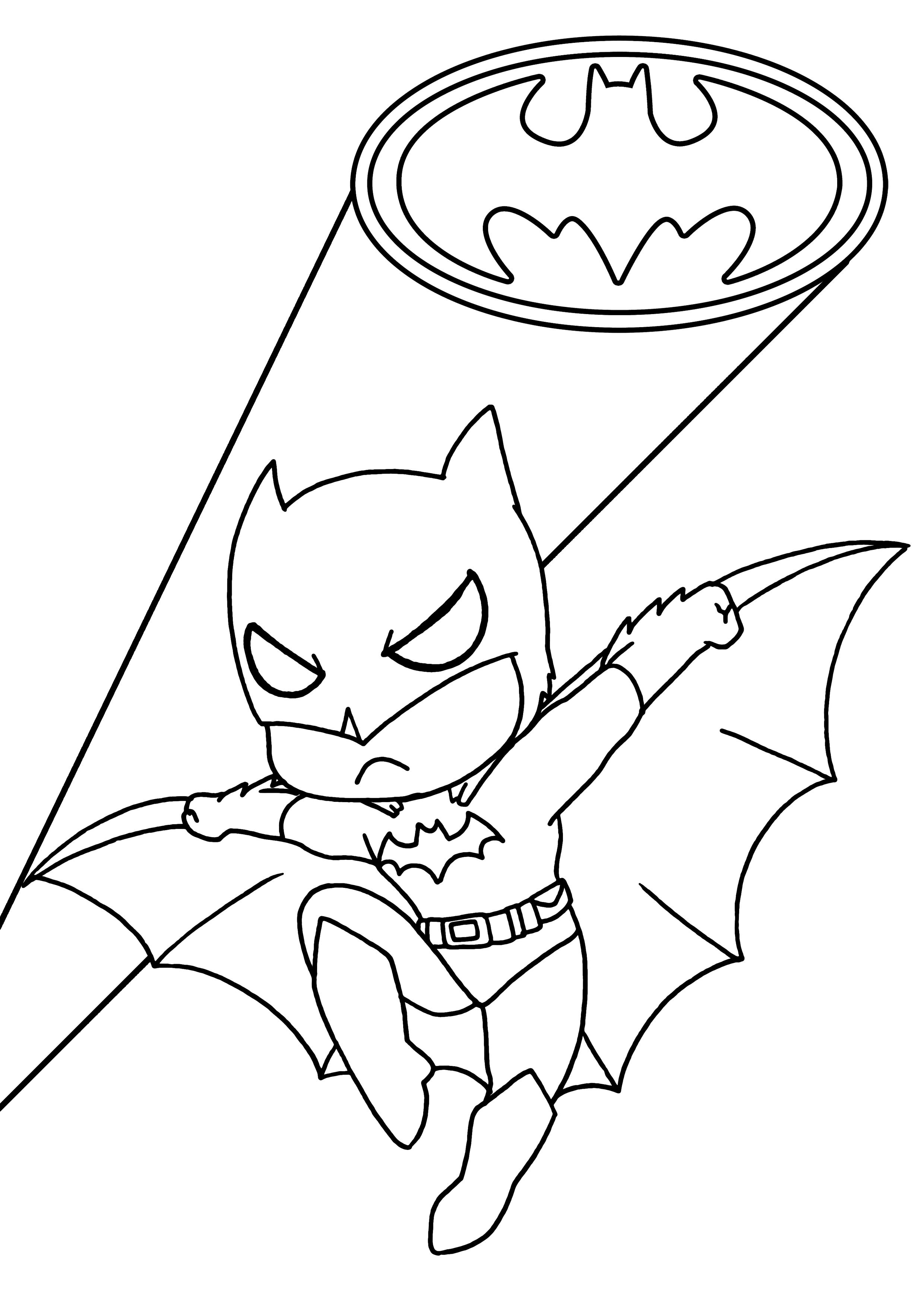 Coloriage Batman enfant à imprimer sur COLORIAGES .info