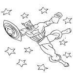 Captain America dessin à colorier