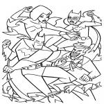 Coloriage Catwoman et Batman