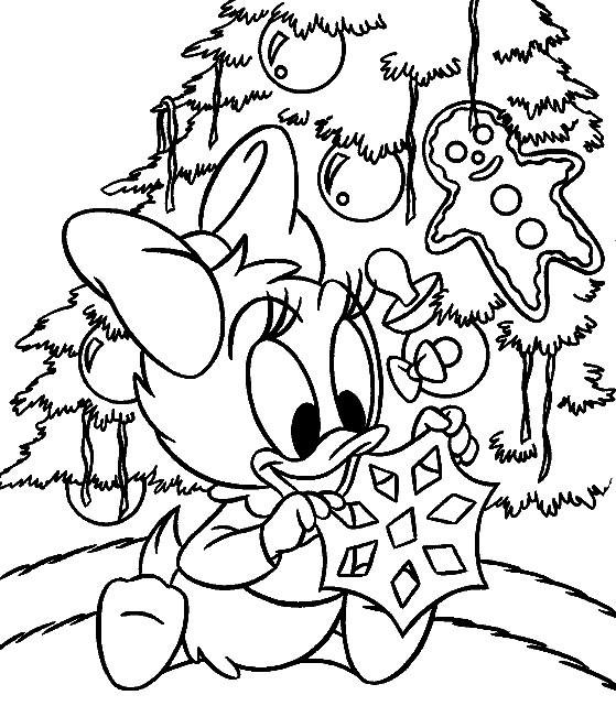 Coloriage daisy duck enfant imprimer sur coloriages info - Dessin a colorier noel disney ...