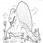 Coloriage Dinosaure difficile