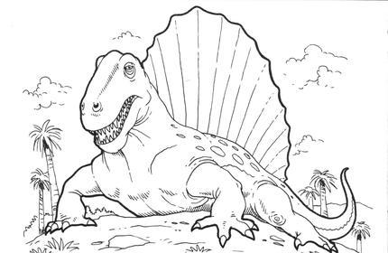 Coloriage Dinosaure difficile à imprimer