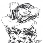 Héroïne  dessin à colorier