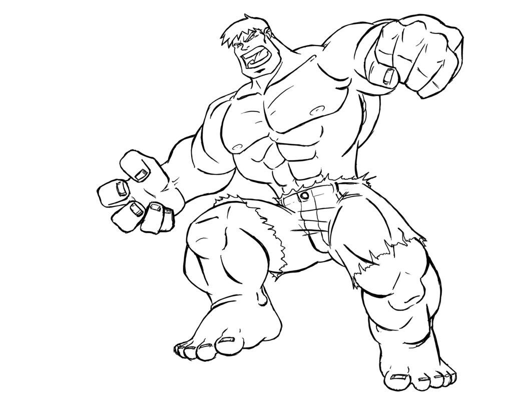 Coloriage Hulk à Imprimer Sur Coloriages Info