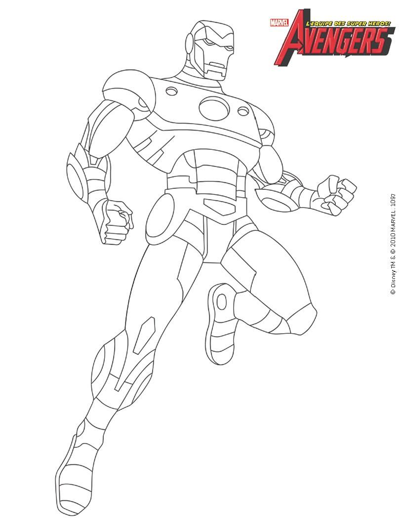 Coloriage Iron Man Avengers à Imprimer Sur Coloriages Info