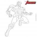 Iron Man Avengers dessin à colorier