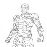 Iron Man costume dessin à colorier