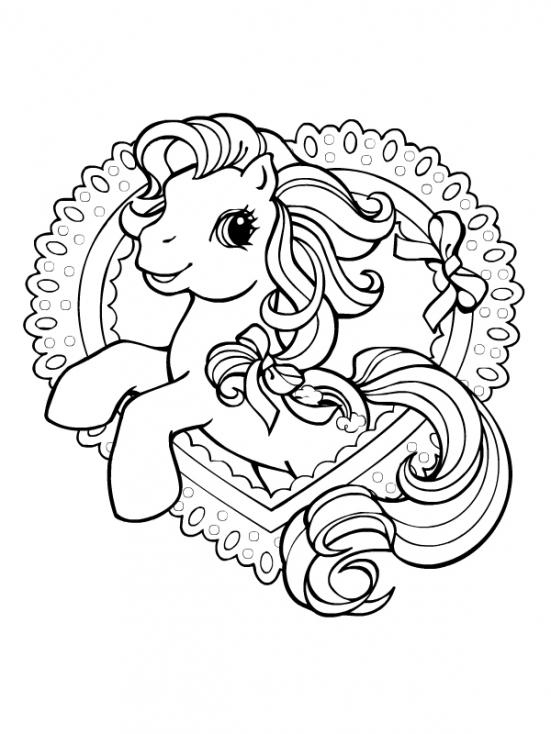 Coloriage Little Pony à imprimer