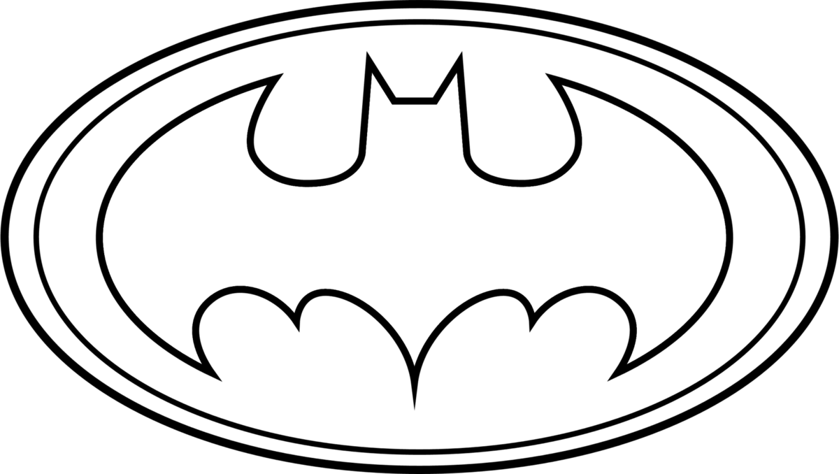 Coloriage logo batman imprimer sur coloriages info - Image batman a colorier ...