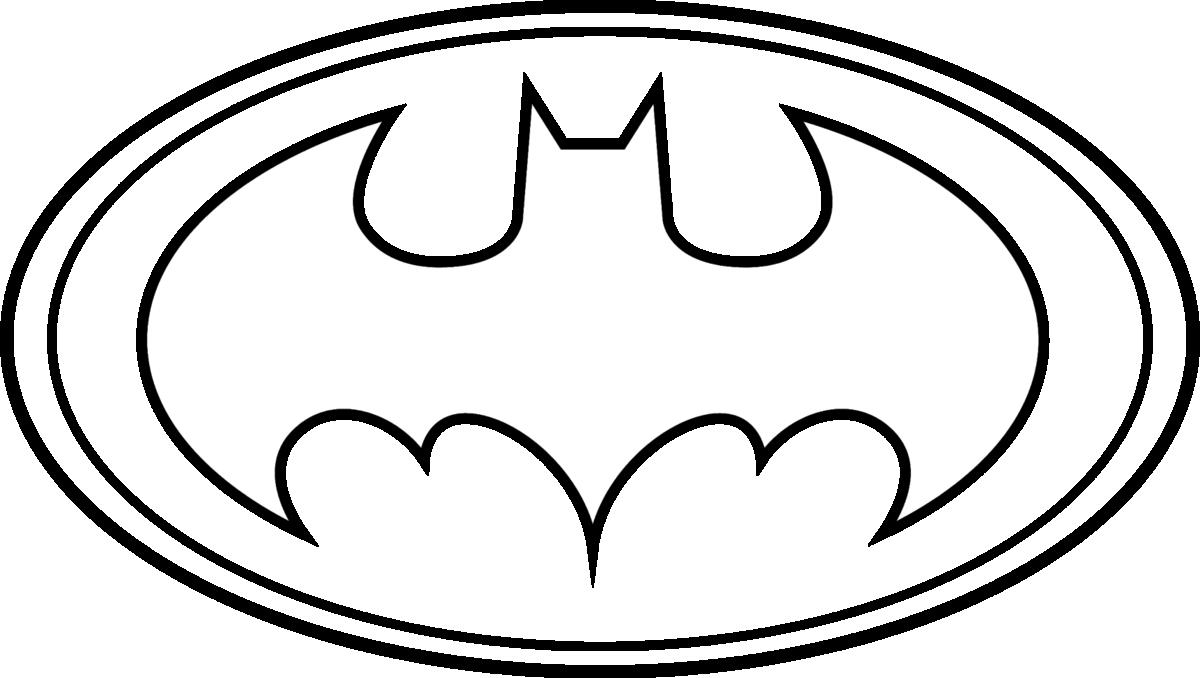Coloriage Logo Batman à imprimer