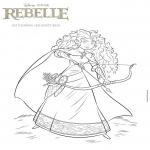 Coloriage Princesse Rebelle