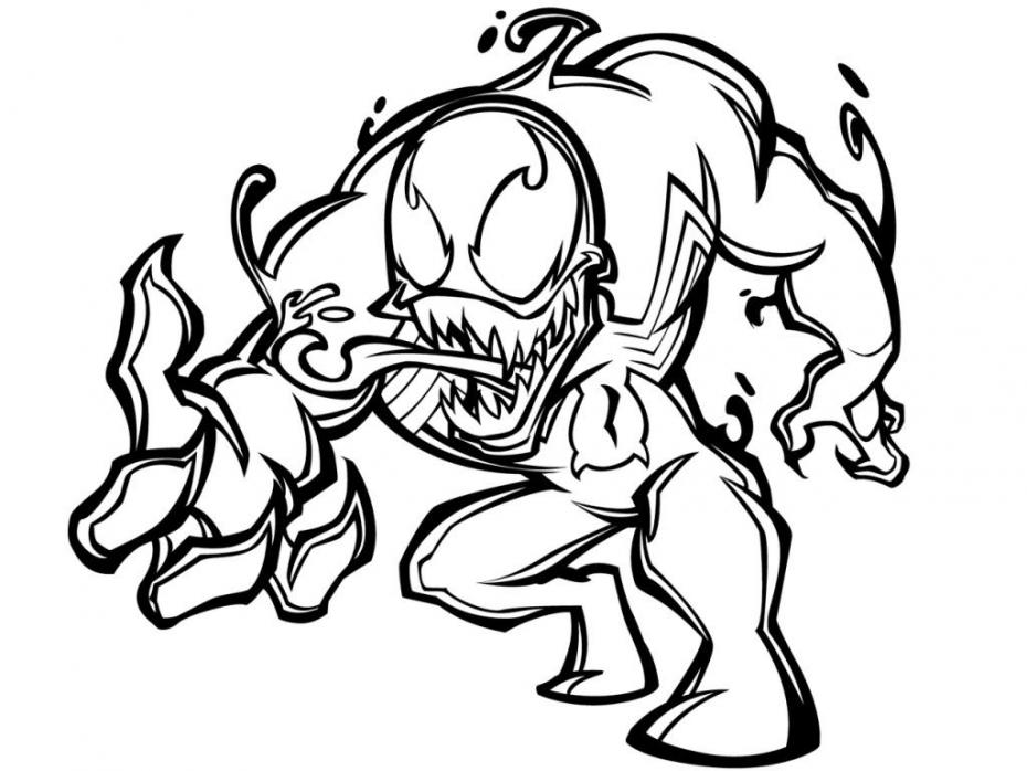 Coloriage Venom Spiderman à imprimer sur COLORIAGES .info