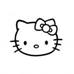 Coloriage Visage Hello Kitty