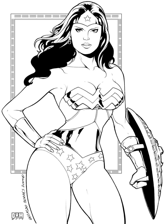 Coloriage Wonder Woman A Imprimer Sur Coloriages Info