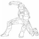 Iron Man dessin à colorier