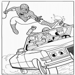 Coloriage Spiderman héro