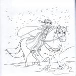 Coloriage Anna Disney